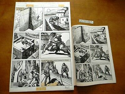 Savage Sword of Conan the Barbarian 87 Original Marvel Art John Buscema Doodles