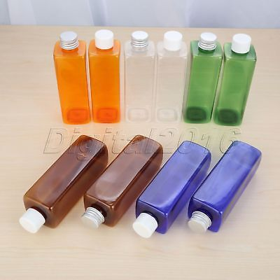 250ml Empty Cosmetic PET Lotion Bottle 2 Type Cap 5Colour Shampoo Bottle Plastic