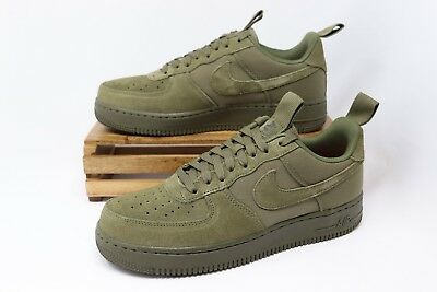 Nike Air Force 1 '07 Canvas Shoes Medium Olive Sequoia 579927-200 Men's NEW