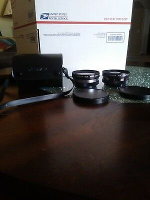 Set Of Yashica Yashikor AUX Wide Angle And Telephoto 1:4 Lens Bundled With Case