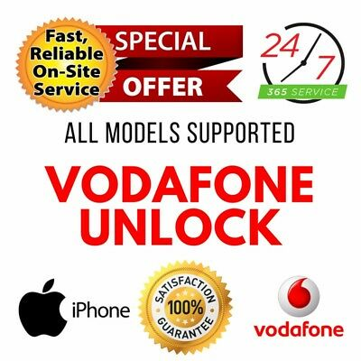 VODAFONE UK FACTORY UNLOCK SERVICE CODE (iPhone XR / iPhone XS / iPhone XS Max)