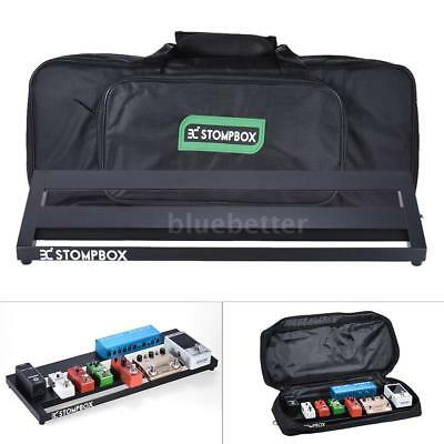 Guitar Effect Pedal Board Pedalboard with 2 Fastener Tapes Black M2N5