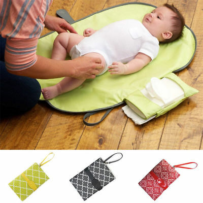 Baby Portable Kids Folding Diaper Changing Pad Waterproof Mat Bag Travel Storage