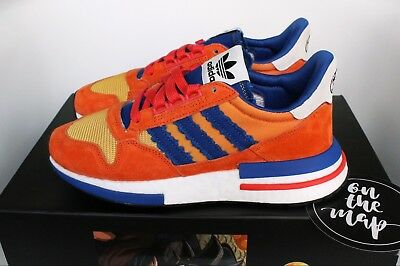 cheap for discount 96bb5 167a0 Adidas ZX 500 RM Dragonball Z DBZ Son Goku Orange Blue 5 6 7 8 9