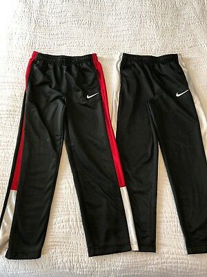 Nike Athletic Gym Sweatpants Lot Of 2 Black Red White 6 7 Large