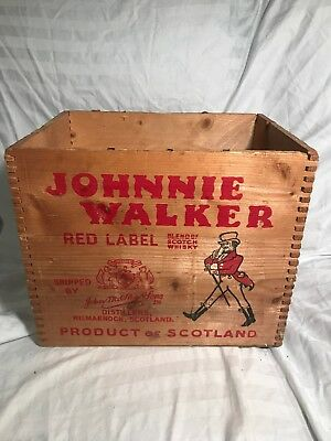 Vintage Wood Johnnie Walker Red Label Scotch Crate (beautiful Color)