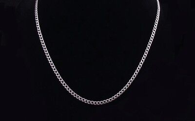 "Men's 316L Stainless Steel Curb Link Chain Necklace - 3 mm - 18"" thru 24"""