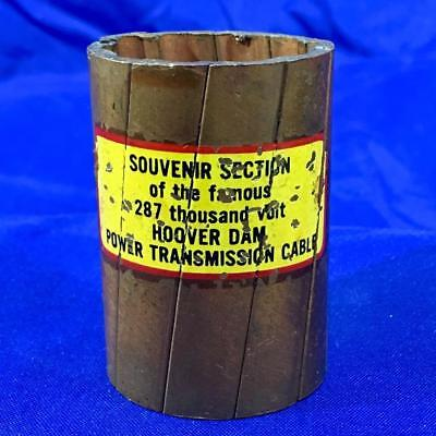 Vintage HOOVER DAM 287,000 volt Power Transmission Cable Copper Souvenir Section