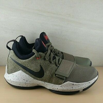 2662475fcbbf Nike PG 1 Elements Men s Basketball Shoes Olive Green Black 911085-200 Size  8.5