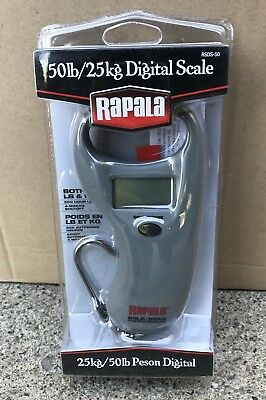 Rapala 50 Lb. Pound Compact Digital Fishing Fish Scale W/ Hook RMDS-50 Brand NEW