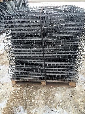 "Full skid 44 pieces brand new galvanized 42"" x 46"" pallet racking grates shelves"