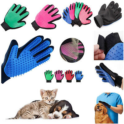 Pet Grooming Glove Cat Dog Hair Deshedding Removal Cleaning Brush Massage Tools
