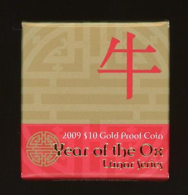 2009 Gold Proof $10 Coin - Year of the Ox