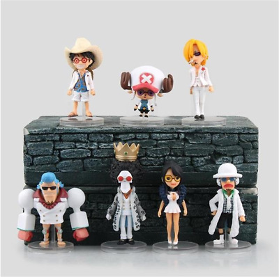 7pcs WCF One Piece Theater Edition Gold Luffy Franky Brook Chopper PVC Figures