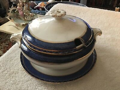 Antique Booths Silicon Fine China ENGLAND Covered Vegetable with underplate