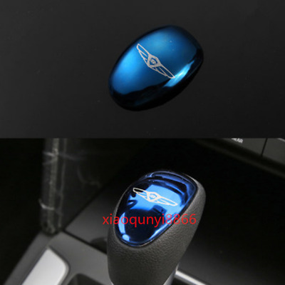 Stainless Blue Inner Gear Shift Knob Cover Trim Fit For Hyundai Elantra 2017-18