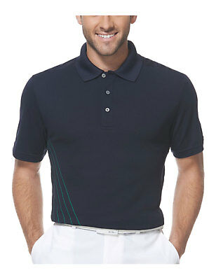 174407d4 PGA TOUR Pro Series Athletic Fit Striped Golf Polo Shirt True Navy Large L  $55