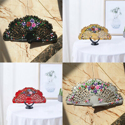 New Wood Fans Custom Dance Fans Hand Painted Spanish Style Fans Wedding Gift