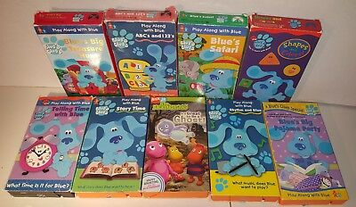 blues clues vhs lot of 9 tapes gc abc time rhythm pajama party