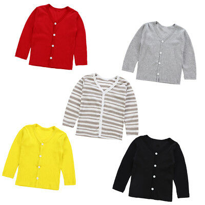 Toddler Kids Baby Girl Cardigan Coat Knitted Sweater Tops Outwear High Quality