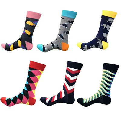 High Quality Mens Socks Fashion Combed Cotton Sock Animal Novelty Casual SOX US