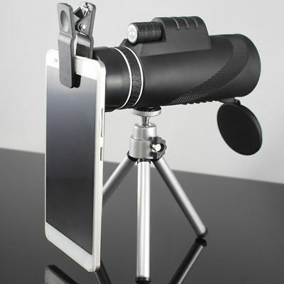 40x60 Zoomable Monocular HD Optic Telescopes Handhel With Clip & tripod US stock