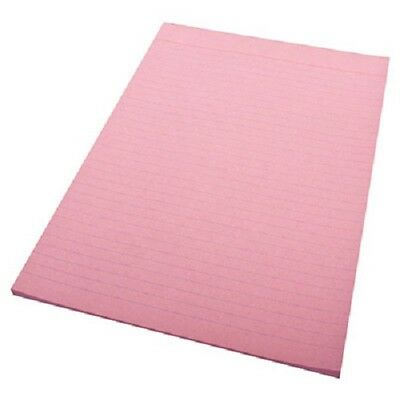 10 x Quill 01012   Pink Writing Pad Ruled 70gsm  Notepad  A4 70 Leaf   SD