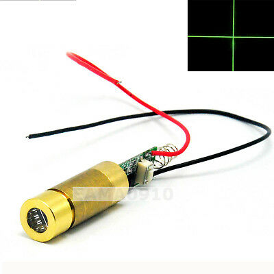 High Quality INDUSTRIAL/LAB 532nm 50mW Cross Green Laser Module Reticle/Locator