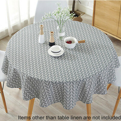 Modern Floral Garden Table Cloth Round Home Use Holiday Dining Party Lovely