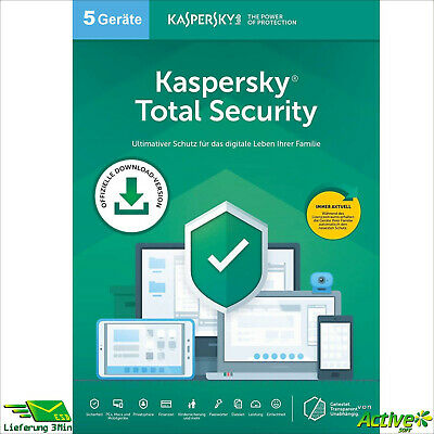 Kaspersky Total Security 2019 10 PC 1Jahr VOLLVERSION / Upgrade 2020 DE-Lizenz