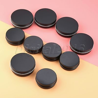60ml/100ml Empty Refillable Aluminum Jars Black Metal Tin Cosmetic Containers