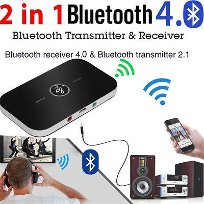 2 in 1 Bluetooth Transmitter Receiver Wireless A2DP for TV Stereo Audio Adapter~