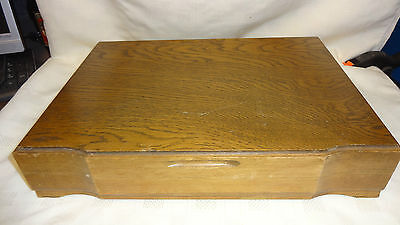 Vintage Empty Wooden Cutlery Box/Canteen For 6 Place Setting