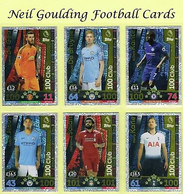 MATCH ATTAX 2018-2019 ☆☆☆ 100 CLUB XI ☆☆☆ Football Trading Cards #445 to #455