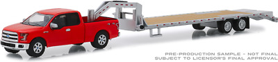 Greenlight Hitch & Tow 2017 Ford F-150 Red & Gooseneck Trailer (Pre-Order)