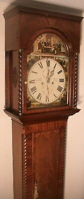 """Antique Mahogany """"  Glasgow""""  (Cotters) Dial Longcase / Grandfather Clock"""