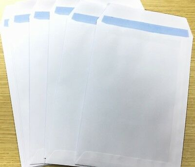 50 x C5/A5 PLAIN WHITE SELF SEAL ENVELOPES 90gsm UK SELLLER