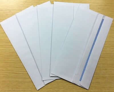 50 DL Envelopes White Plain 90gsm 220mm x 110mm Self Seal Office Letter Pack UK