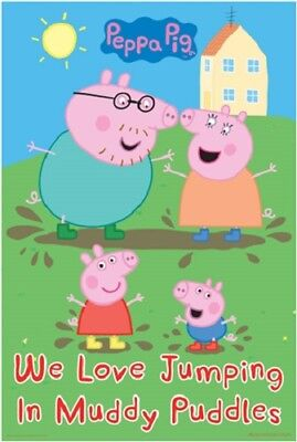 Peppa Pig - Muddy Puddles POSTER 61x91cm NEW