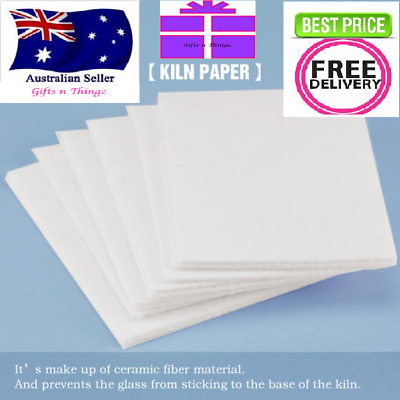 Kiln Paper Jewellery Making Dichroic Glass 10 20 50 Sheets Lining Papers Squa...