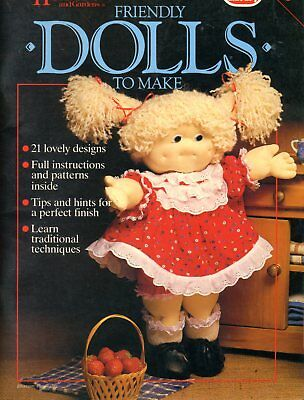 Friendly Dolls to Make Book - 21 Designs to Sew/Knit etc