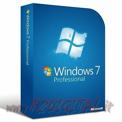 Windows 7 Profi Esd Sp1 Dvd + Klebstoff Pro Seven 32 64 Microsoft Original