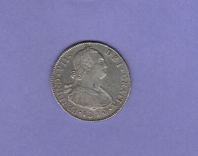 "Guatemala 4 Reales Coin,1810-NG-M Extra Fine Condition Cat#KM-63-""Rare & Scarce"""