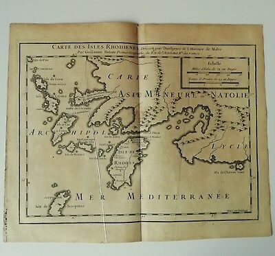 print Card geographical Isles Local Greece Guillaume Delisle 1726