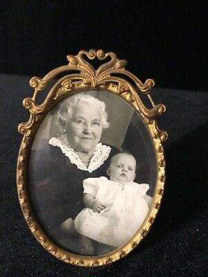 Beautiful Antique Brass Picture Frame