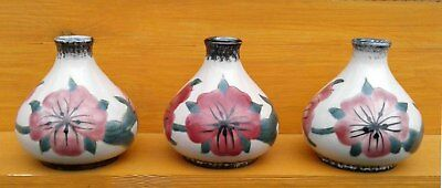 Cobridge Stoneware - Corn Cockle- Selection Of Small Vases.