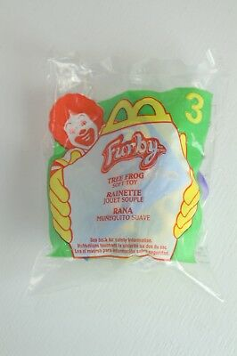McDonalds Happy Meal Toy NEW in Package 2000 Furby #3 Tree Frog Soft Toy