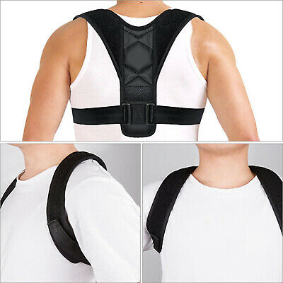 Posture Corrector Back Shoulder Support Brace Belt Therapy Adjustable Men Women