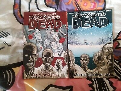 The Walking Dead Image Volume One And Two Graphic Novel Set