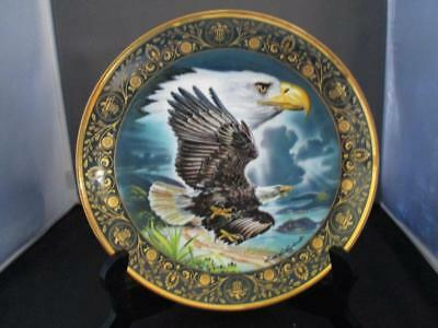 """Royal Doulton 8"""" Eagle Collectors Plate~ Preservation of Freedom ~ Franklin Mint"""